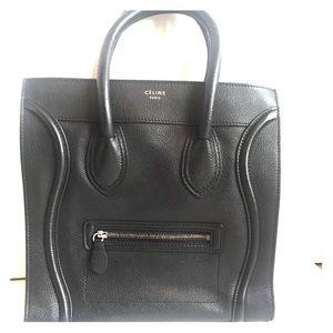CÉLINE Luggage Black Leather ToTe